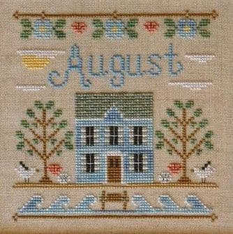 Country Cottage Needleworks August Cottage of the Month cross stitch chart