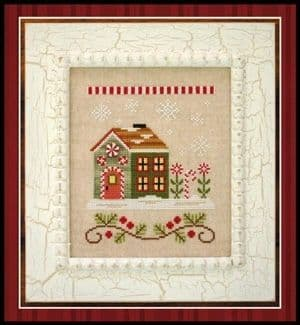 Country Cottage Needleworks Candy Cane Cottage - Santa's Village cross stitch chart