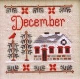 Country Cottage Needleworks December Cottage of the Month cross stitch chart