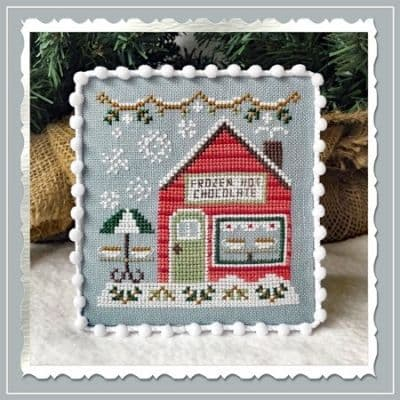Country Cottage Needleworks Frozen Hot Chocolate Shop - Snow Village cross stitch chart