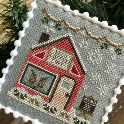 Country Cottage Needleworks Iced Coffee Cafe - Snow Village cross stitch chart