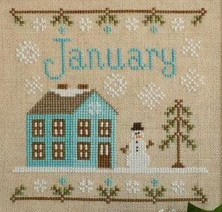 Country Cottage Needleworks January Cottage of the Month cross stitch chart