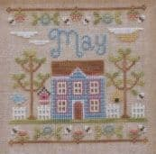Country Cottage Needleworks May Cottage of the Month cross stitch chart