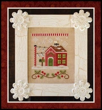 Country Cottage Needleworks North Pole Post Office - Santa's Village cross stitch chart