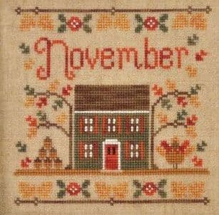 Country Cottage Needleworks November Cottage of the Month cross stitch chart