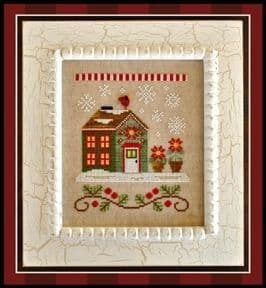 Country Cottage Needleworks Poinsettia Place - Santa's Village cross stitch chart