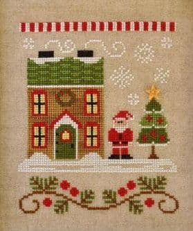 Country Cottage Needleworks Santa's House - Santa's Village cross stitch chart