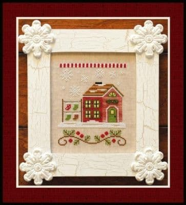 Country Cottage Needleworks Santa's Stocking Store - Santa's Village cross stitch chart