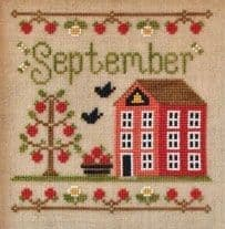 Country Cottage Needleworks September Cottage of the Month cross stitch chart