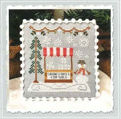 Country Cottage Needleworks Snowflake Stand - Snow Village cross stitch chart