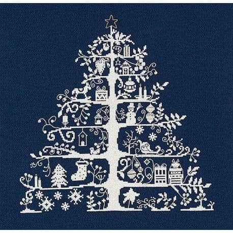 DMC Blue Christmas Tree cross stitch kit
