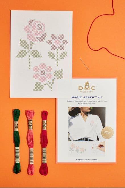 DMC Flower Collection Cross Stitch Magic Paper Kit