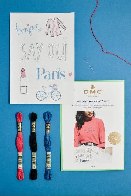 DMC French Collection Embroidery Magic Paper Kit