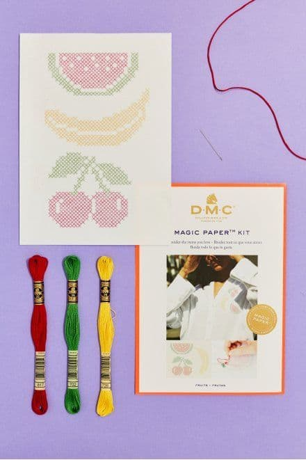 DMC Fruit Collection Cross Stitch Magic Paper Kit
