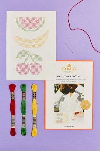 DMC Fruit Collection Cross Stitch Magic Paper Kit