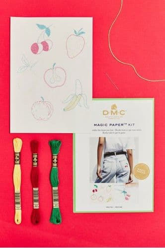 DMC Fruit Collection Embroidery Magic Paper Kit