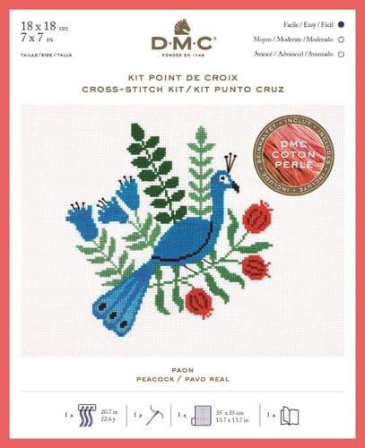 DMC Holly Maguire Peacock cross stitch kit