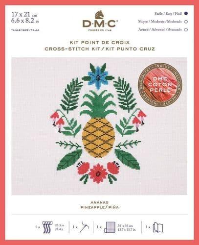 DMC Holly Maguire Pineapple cross stitch kit