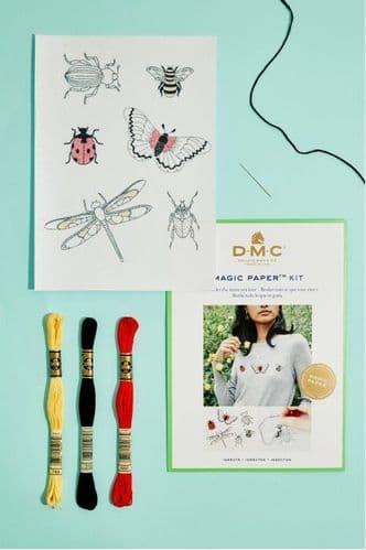 DMC Insect Collection Embroidery Magic Paper Kit