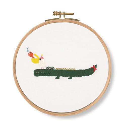 DMC Invitation!  Crocodile embroidery kit