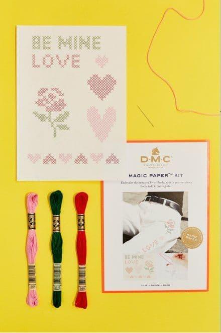 DMC Love Collection Cross Stitch Magic Paper Kit
