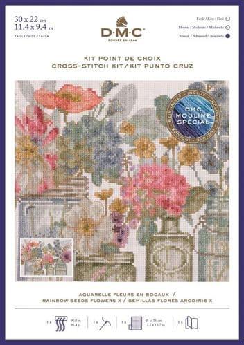 DMC  Rainbow Seeds Flowers X cross stitch kit