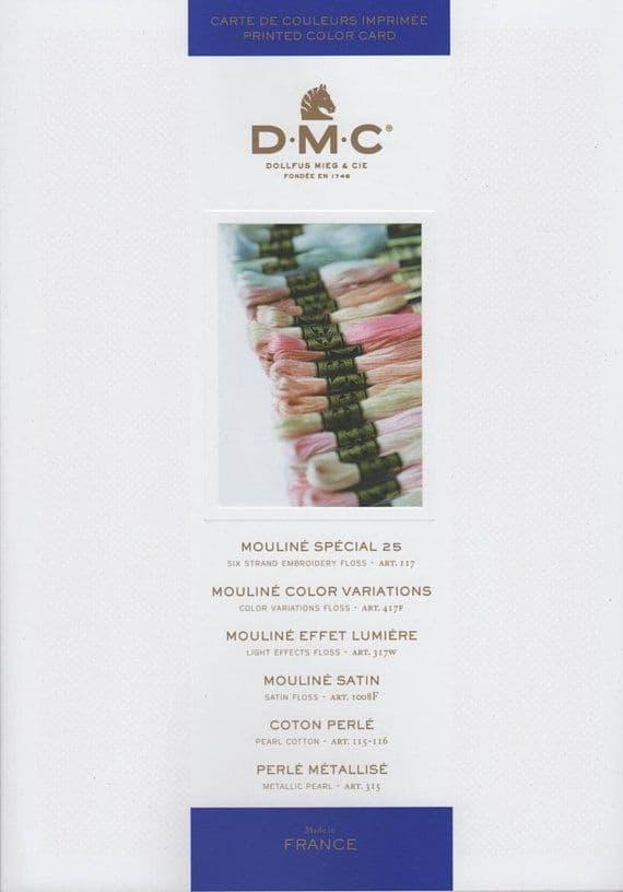 DMC Stranded Cotton Printed Shade Card