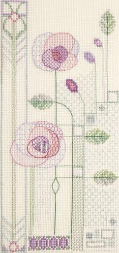 Derwentwater Designs Evening Rose cross stitch kit