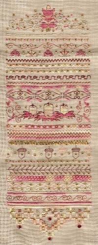 Dinky Dyes Designs Autumn Fire Sampler cross stitch chart