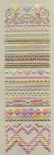 Dinky Dyes Designs Spring Hearts Sampler cross stitch chart
