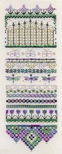 Dinky Dyes Designs Summer's Gate Sampler cross stitch chart
