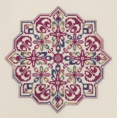 Dinky Dyes Designs Windrose Mandala by cross stitch chart