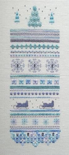 Dinky Dyes Designs Winter Ice Sampler cross stitch chart