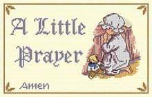 Faye Whittaker A Little Prayer cross stitch kit