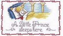 Faye Whittaker A Little Prince Sleeps Here cross stitch kit