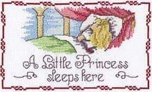 Faye Whittaker A Little Princess Sleeps Here cross stitch kit