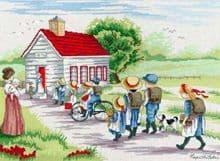 Faye Whittaker Little Red School House cross stitch kit