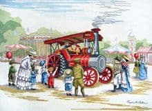 Faye Whittaker Steam Engine cross stitch kit