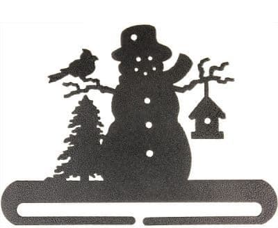 "Frosty Snowman 8"" Charcoal Metal Bellpull"