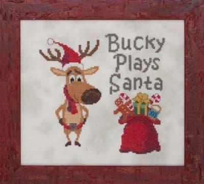 Glendon Place Bucky Plays Santa cross stitch chart