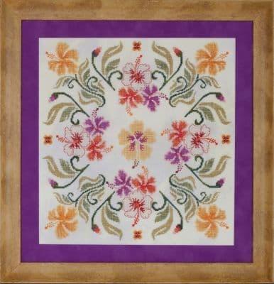 Glendon Place Malvaceae (The Hisbiscus Mandala) cross stitch chart
