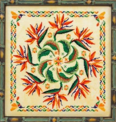 Glendon Place Strelitzia (The Bird of Paradise) cross stitch chart