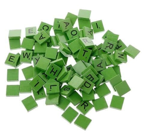 Green Scrabble Letter Needle Minder