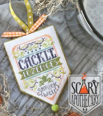 Hands on Design Cackle Lozenges Scary Apothecary Series cross stitch chart
