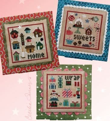 Heart in Hand Christmas Square Dance 1 - Home, Sweets, Wrap cross stitch chart