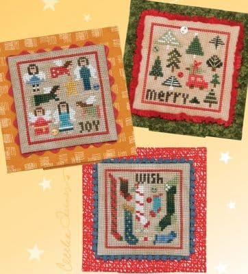Heart in Hand Christmas Square Dance 2 - Joy, Merry, Wish cross stitch chart