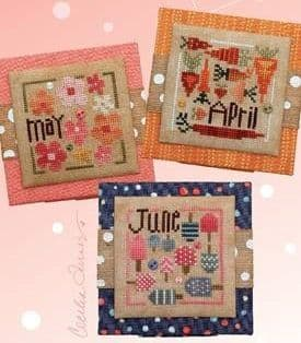 Heart in Hand Square Dance - April, May, June cross stitch chart