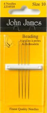 John James Beading Needles - PK 4 - Size 10