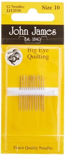 John James Big Eye Quilting Hand Needles-Size 10 12/Pkg