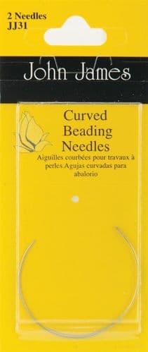 John James Curved Beading Needles - Size 10